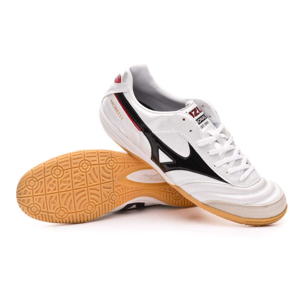 pretty nice 75a01 8fde7 Zapatilla Morelia Indoor White-Black-Chinese red