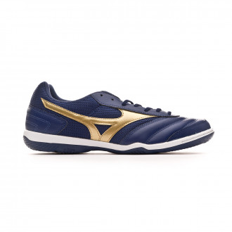 Sapatilha de Futsal Mizuno MRL Sala Club IN Blue depths-Gold