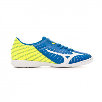 Sapatilha de Futsal Mizuno Rebula Sala Club IN Blue-White-Safety yellow