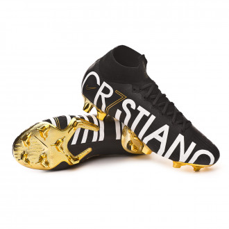 Chaussure de foot  Nike Mercurial Superfly VI Elite CR7 Special Edition FG Black-Metallic vivid gold