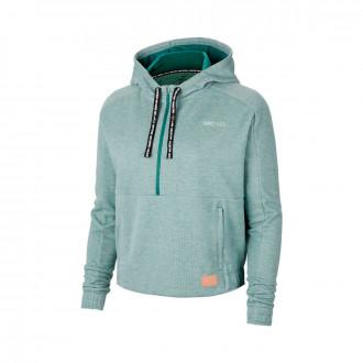 Sudadera Nike FC Dry Hoodie HZ Mujer Bicoastal-Pistachio frost