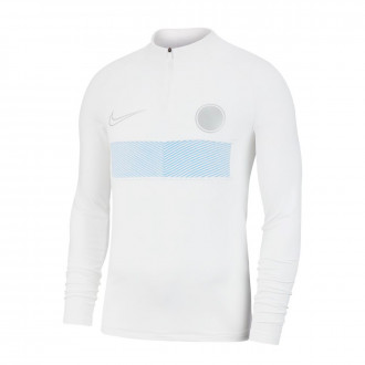 Sweatshirt Nike Aeroadapt Strike Dril Top White-Light photo blue-Pure platinum