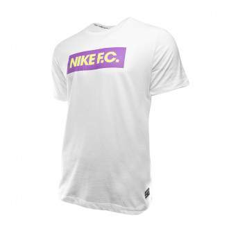 Maglia Nike Dry Seasonal Block White-Bright violet