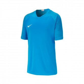 Camiseta Nike Breathe Strike Top SS Niño Light photo blue-White