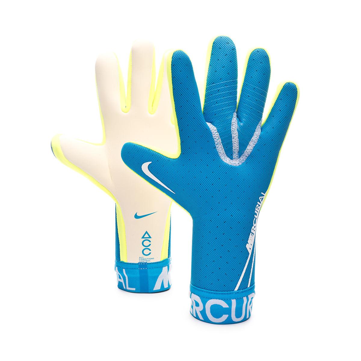 adolescente Entrada Carteles  Glove Nike Mercurial Touch Elite Blue hero-White - Football store Fútbol  Emotion