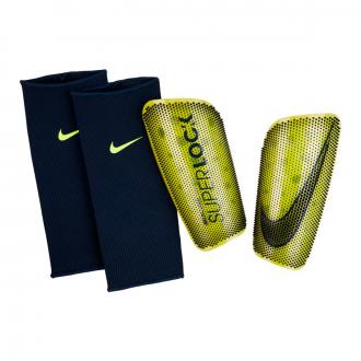 Espinillera Nike Mercurial Lite Superlock Volt-Obsidian-White