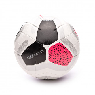 Bola de Futebol Nike Premier League Strike 2019-2020 White-Black-Cool grey-Racer pink