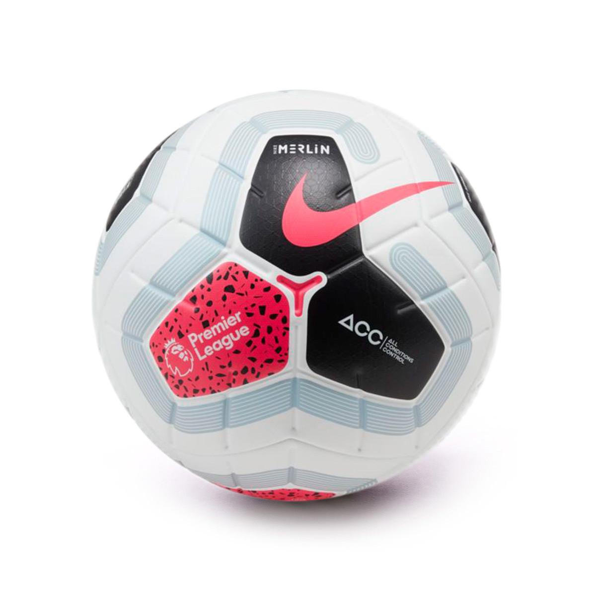 mariposa más como resultado  Ball Nike Premier League Merlin 2019-2020 White-Black-Cool grey-Racer pink  - Football store Fútbol Emotion