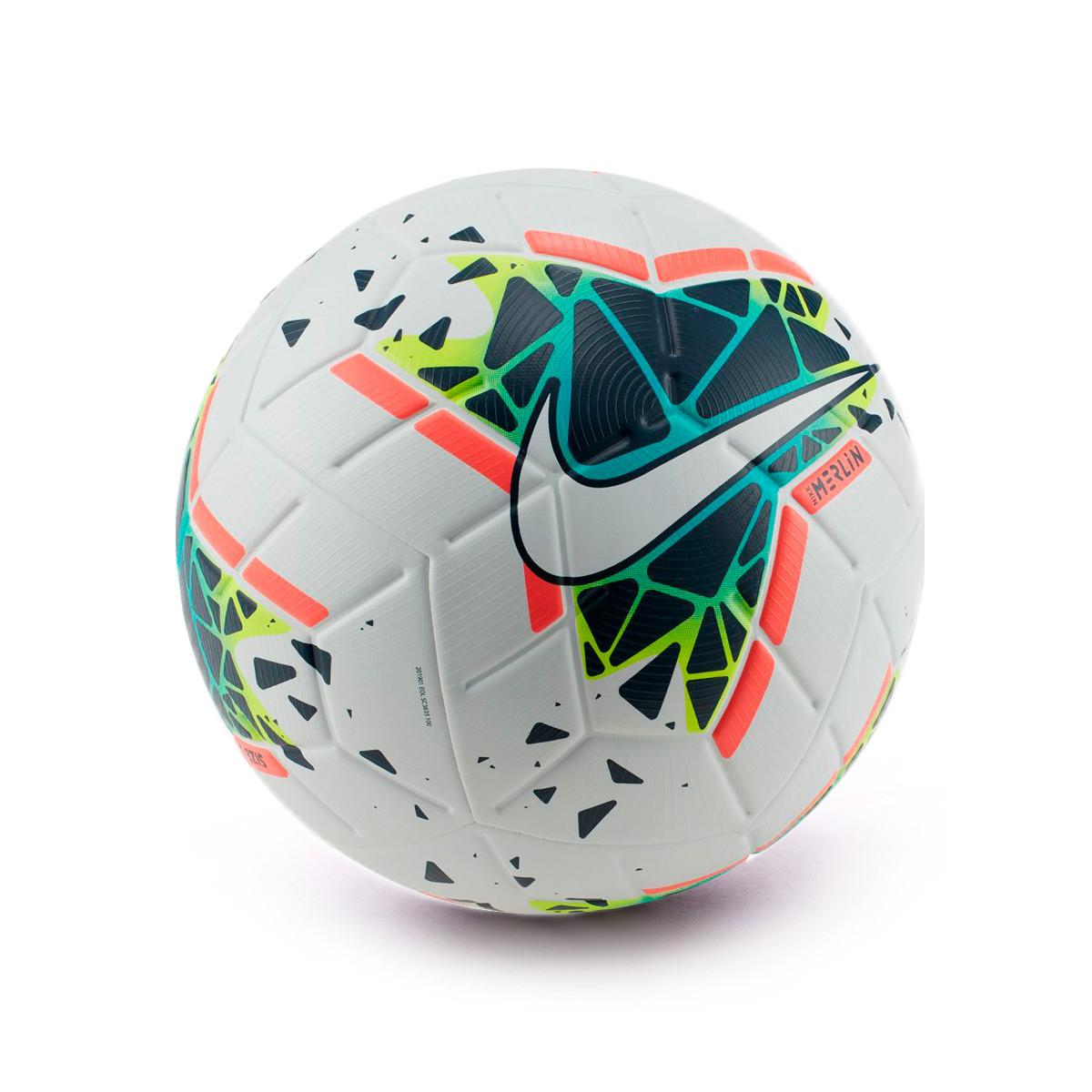 tallarines ornamento Trágico  Ball Nike Merlin 2019-2020 White-Obsidian-Blue fury - Football store Fútbol  Emotion