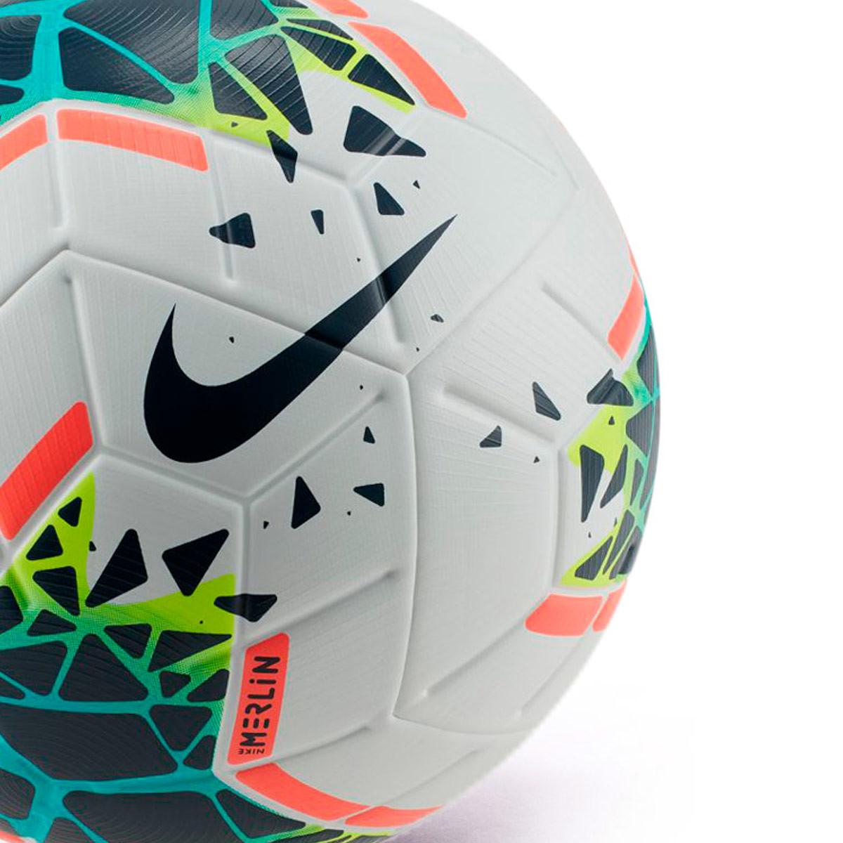 adjetivo encuesta pastel  Ball Nike Merlin 2019-2020 White-Obsidian-Blue fury - Football store Fútbol  Emotion