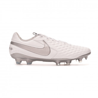 Bota Nike Tiempo Legend VIII Pro FG White-Chrome-Metallic silver