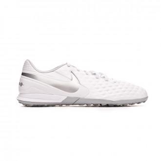 Zapatilla  Nike Tiempo Legend VIII Academy Turf White-Chrome-Pure platinum