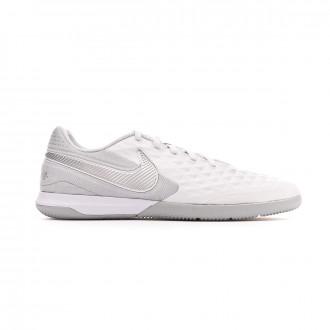 Sapatilha de Futsal  Nike React Tiempo Legend VIII Pro IC White-Chrome-Wolf grey-Pure platinum