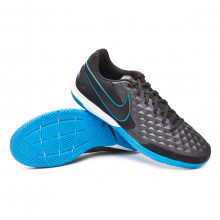 Sapatilha de Futsal Tiempo Legend VIII Academy IC Black-Blue hero