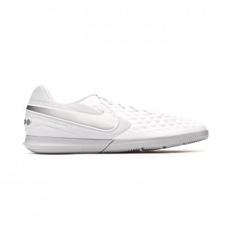 Zapatilla Nike Tiempo Legend VIII Club IC White-Chrome-Pure platinum-Wolf grey