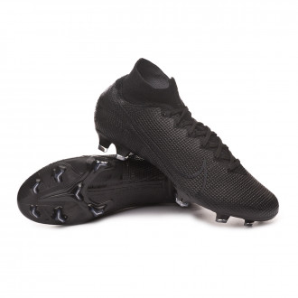 Mercurial Superfly VII Elite FG Black-Dark grey