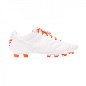 Chaussure de foot  Nike Tiempo Premier II FG White-Hyper crimson-White