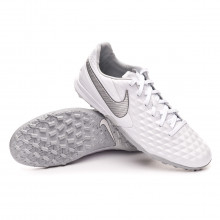 Chaussure de football Tiempo Legend VIII Pro Turf White-Chrome-Wolf grey-Pure platinum