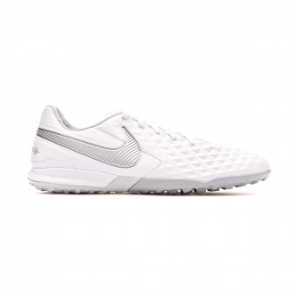 Zapatilla Nike Tiempo Legend VIII Pro Turf White-Chrome-Wolf grey-Pure platinum