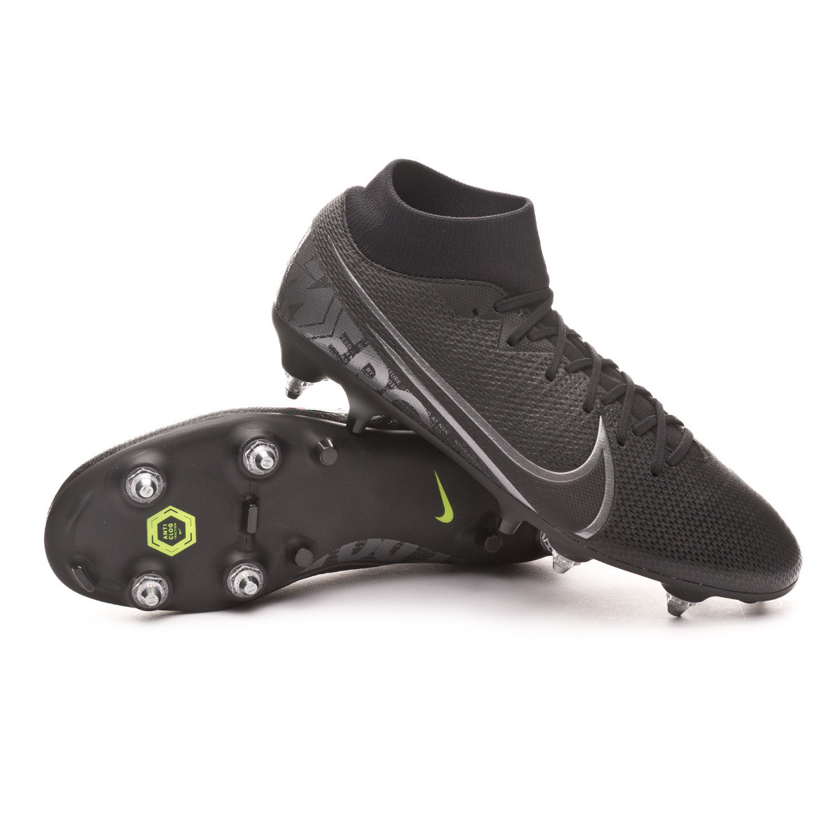 official photos b88b6 c7151 Bota Mercurial Superfly VII Academy ACC SG-Pro Black-Metallic cool grey