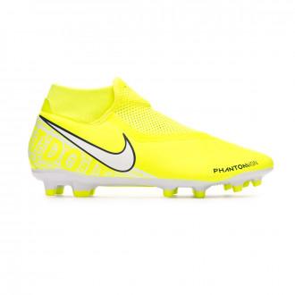 Chaussure de foot Nike Phantom Vision Academy DF FG/MG Volt-White