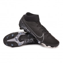 Football Boots Mercurial Superfly VII Academy FG/MG Black-Metallic cool grey-Blue fury