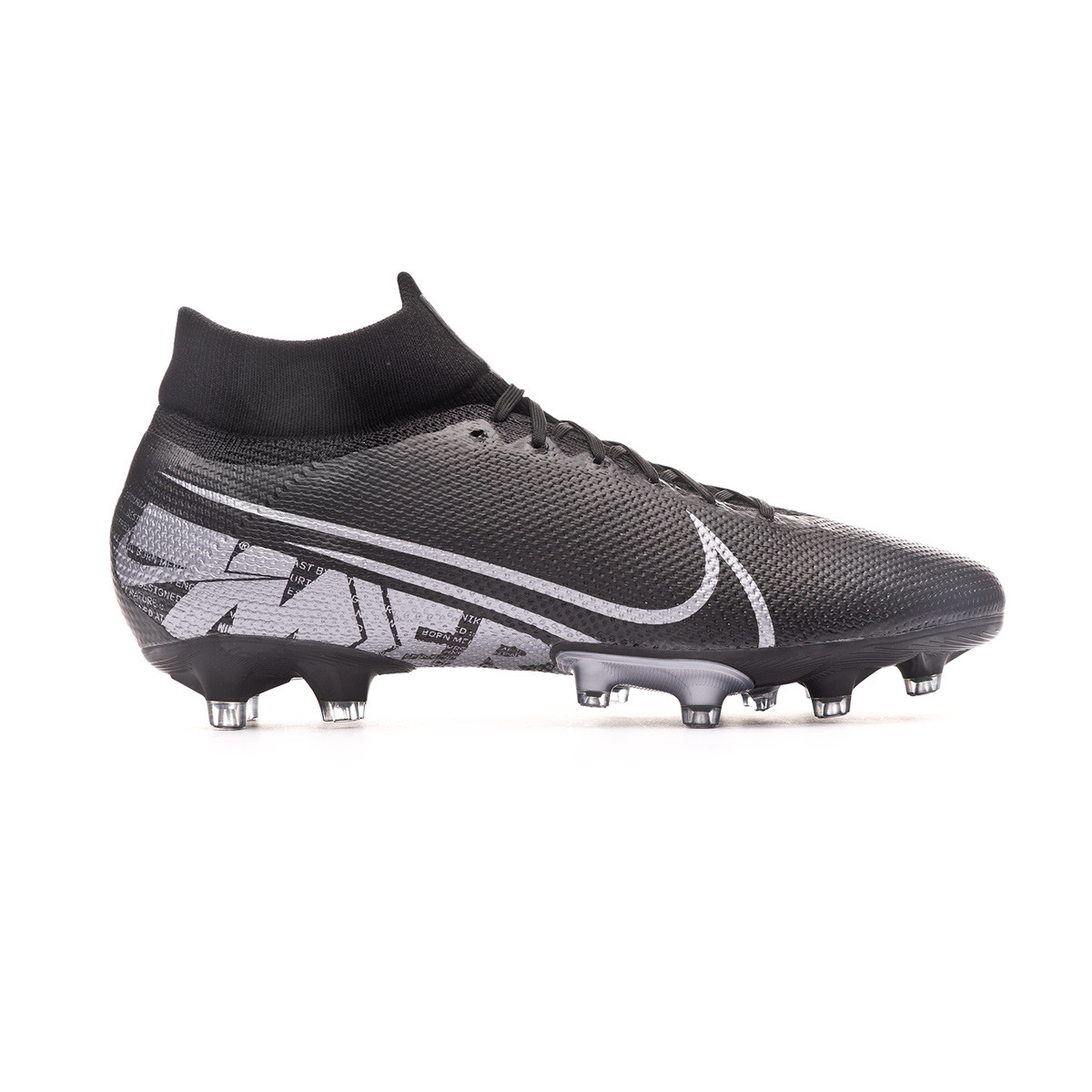 Persona especial atleta silueta  Football Boots Nike Mercurial Superfly VII Pro AG-Pro Black-Metallic cool  grey - Football store Fútbol Emotion