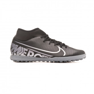 Zapatilla Nike Mercurial Superfly VII Club Turf Black-Metallic cool grey
