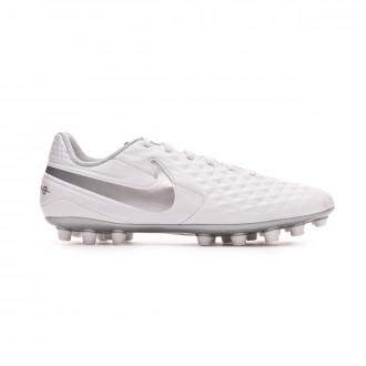 Chaussure de foot Nike Tiempo Legend VIII Academy AG White-Chrome-Pure platinum