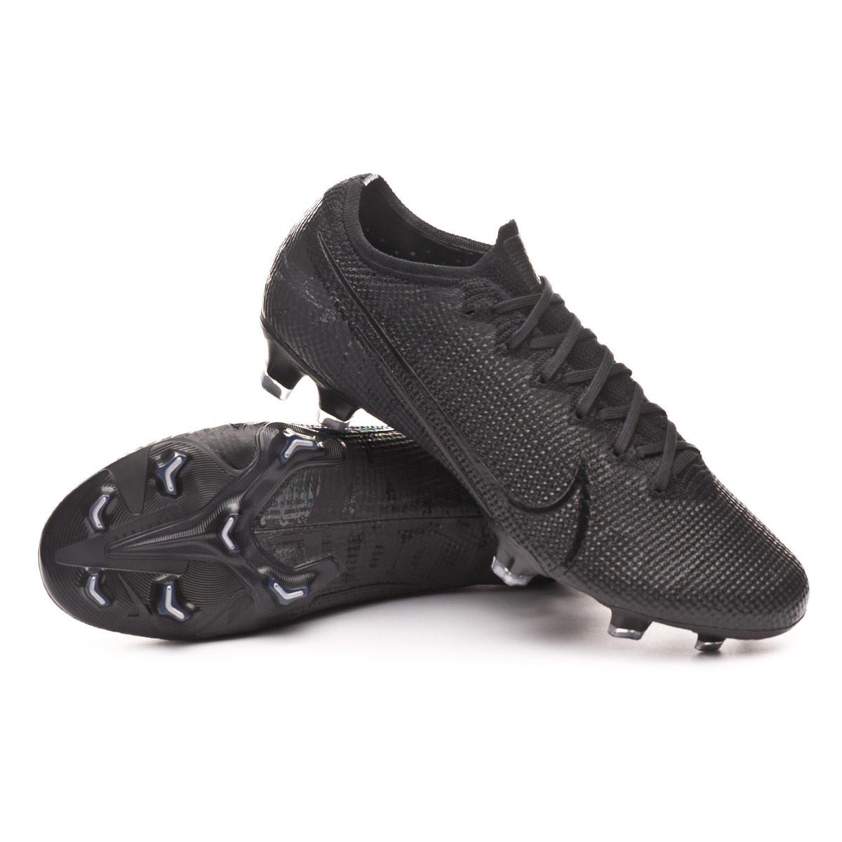 Suelto Ligadura Incontable  Football Boots Nike Mercurial Vapor XIII Elite FG Black-Matte  silver-Metallic cool grey - Football store Fútbol Emotion