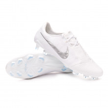 Zapatos de fútbol Phantom Venom Elite FG White-Metallic platinum
