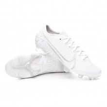 Chuteira Mercurial Vapor XIII Elite FG White-Chrome-Metallic silver