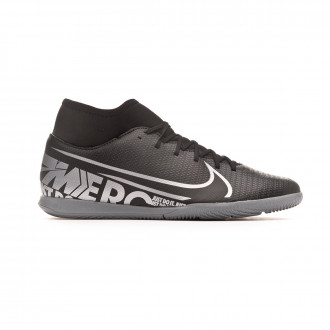 Chaussure de futsal Nike Mercurial Superfly VII Club IC Black-Metallic cool grey