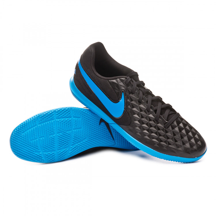 release info on reliable quality quite nice Futsal Boot Nike Tiempo Legend VIII Club IC Black-Blue hero ...
