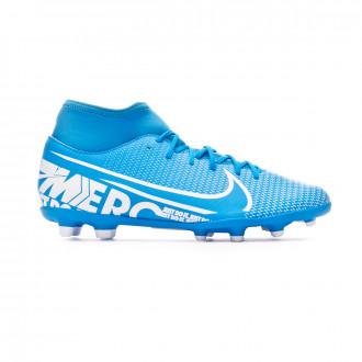 Chaussure de foot Nike Mercurial Superfly VII Club FG/MG Blue hero-White-Obsidian