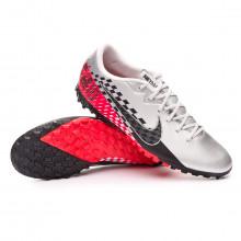 Football Boot Mercurial Vapor XIII Academy Turf Neymar Jr Chrome-Black-Red orbit-Platinum tint