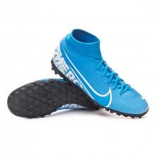 Football Boot Mercurial Superfly VII Academy Turf Blue hero-White-Obsidian