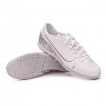 Tenis Mercurial Vapor XIII Academy IC White-Chrome-Metallic silver