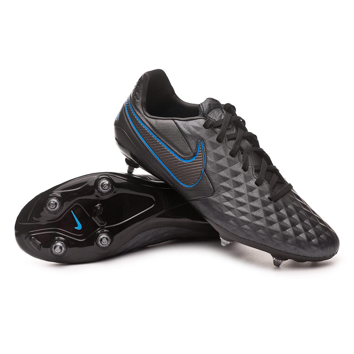 carga Hacer carpintero  Football Boots Nike Tiempo Legend VIII Pro SG Black-Blue hero - Football  store Fútbol Emotion