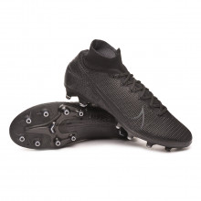 Chuteira Mercurial Superfly VII Elite AG-Pro Black-Dark grey