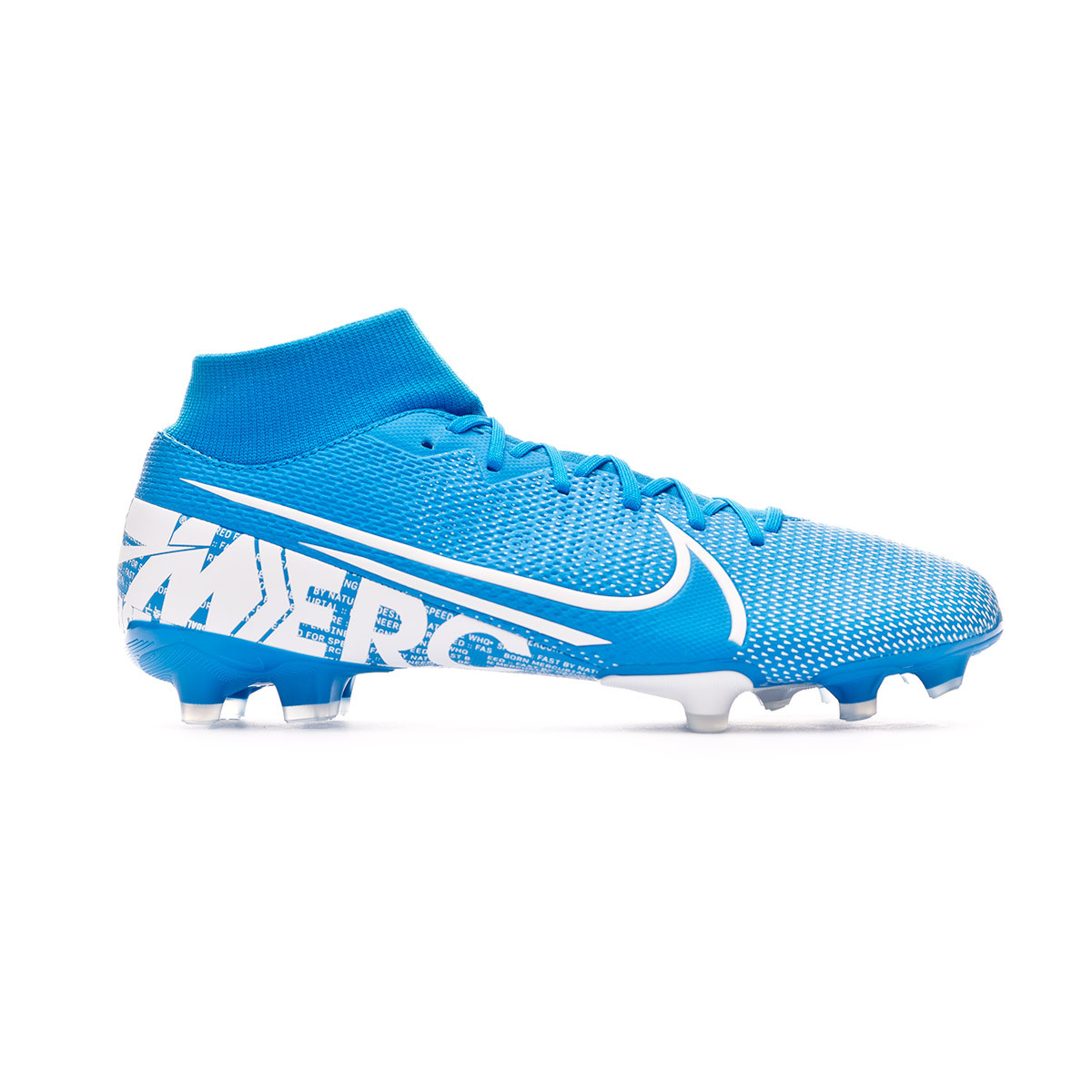 meilleure sélection 0189f a03b3 Bota Mercurial Superfly VII Academy FG/MG Blue hero-White-Obsidian