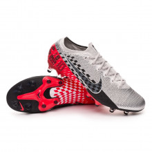 Bota Mercurial Vapor XIII Elite AG-Pro Neymar Jr Chrome-Black-Red orbit-Platinum tint