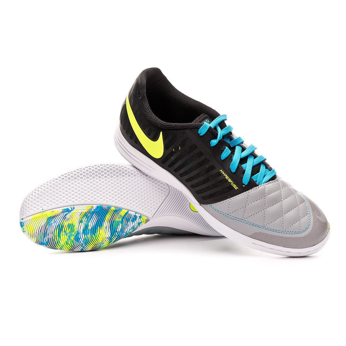Jarra preámbulo Cambio  Futsal Boot Nike Lunar Gato II Black-Volt-Wolf grey-Light current blue -  Football store Fútbol Emotion