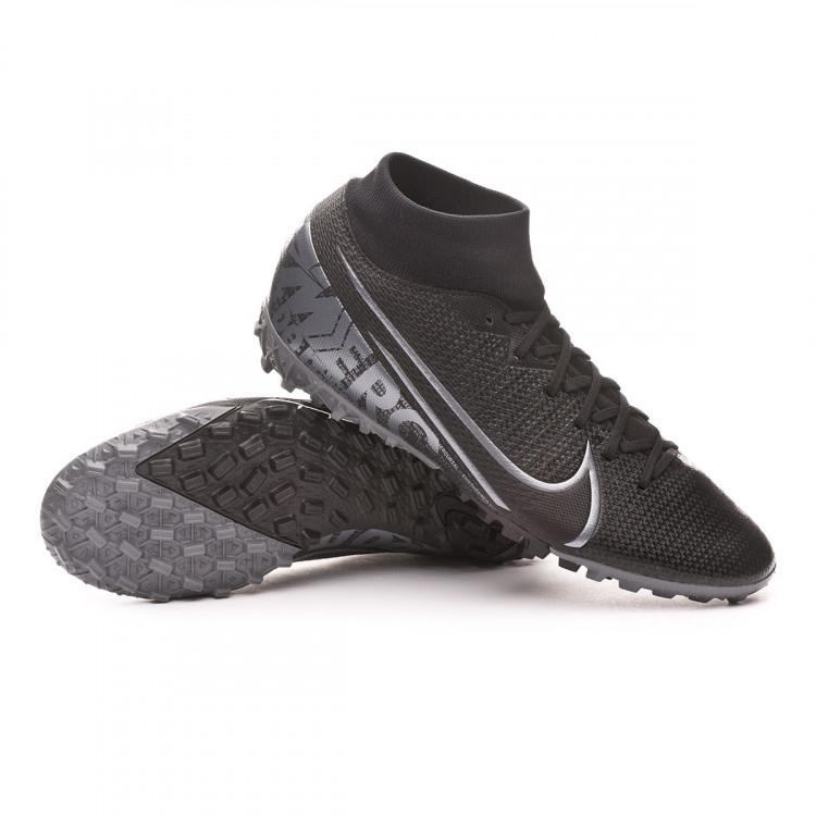 Perplejo Chimenea analizar  Football Boots Nike Mercurial Superfly VII Academy Turf Black-Metallic cool  grey - Football store Fútbol Emotion