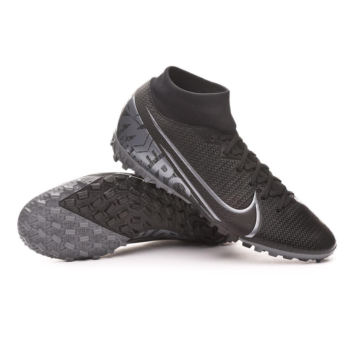 alcanzar Cartas credenciales Elasticidad  Bota de fútbol Nike Mercurial Superfly VII Academy Turf Black-Metallic cool  grey - Tienda de fútbol Fútbol Emotion
