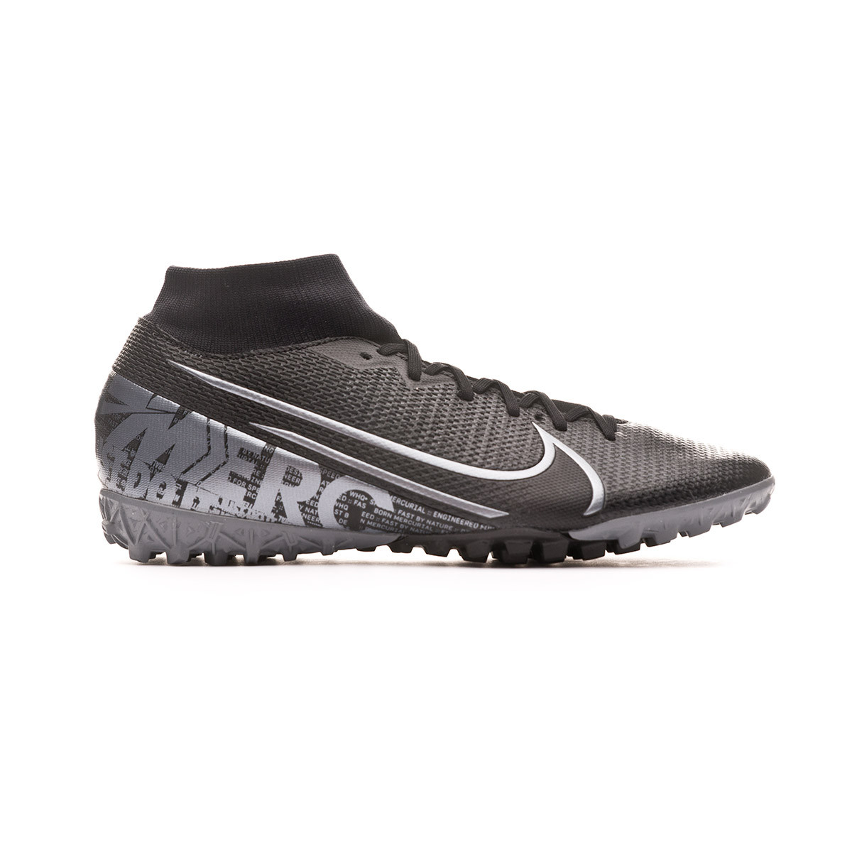 Agradecido ganso regional  Football Boots Nike Mercurial Superfly VII Academy Turf Black-Metallic cool  grey - Football store Fútbol Emotion