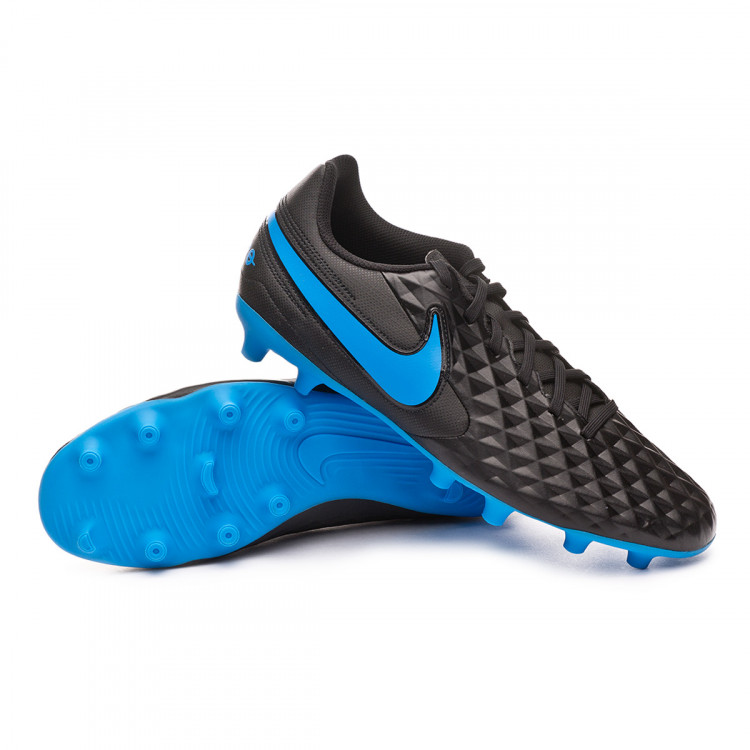 100% autentico mujer diversos estilos Football Boots Nike Tiempo Legend VIII Club FG/MG Black-Blue hero ...