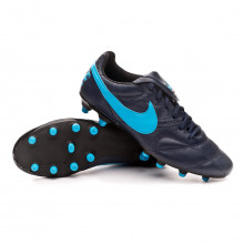 Football Boots Tiempo Premier II FG Obsidian-Light current blue-Black