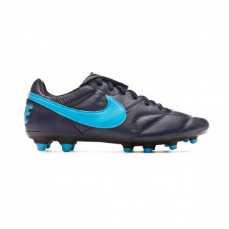 Football Boots Nike Tiempo Premier II FG Obsidian-Light current blue-Black