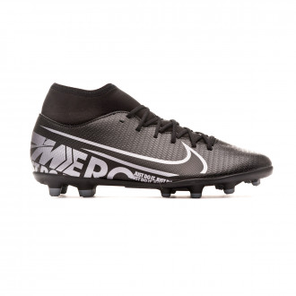 Bota Nike Mercurial Superfly VII Club FG/MG Black-Metallic cool grey